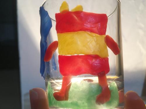 蜜蝋粘土ガラス