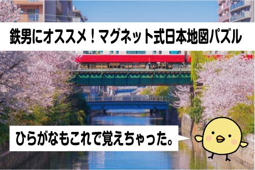 鉄男にオススメなマグネット式日本地図パズル