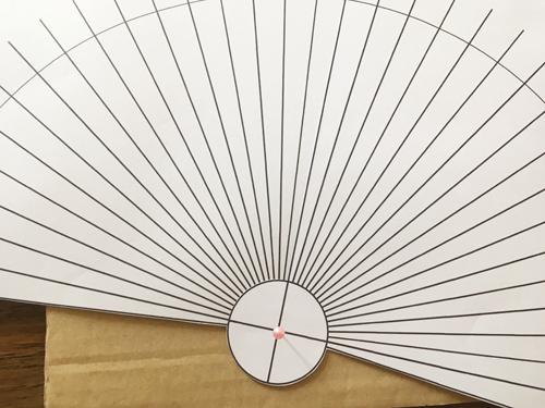 糸かけ曼荼羅型紙